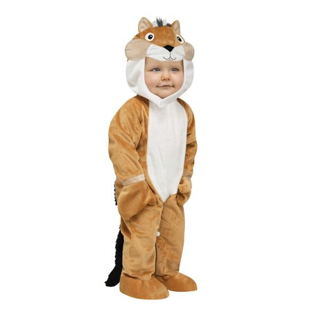 Toddler Chipper Chipmunk Costume by FunWorld 117001, 6-12mo](Alvin Chipmunk Costume)
