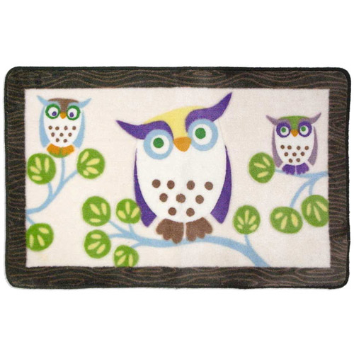 Allure Awesome Owls Bath Rug