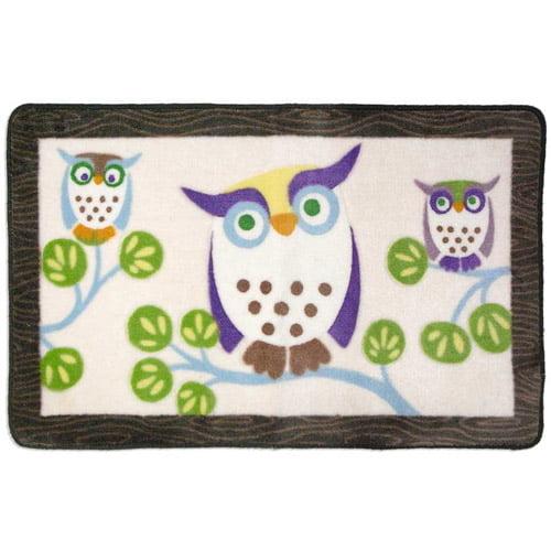 Allure Awesome Owls Bath Rug