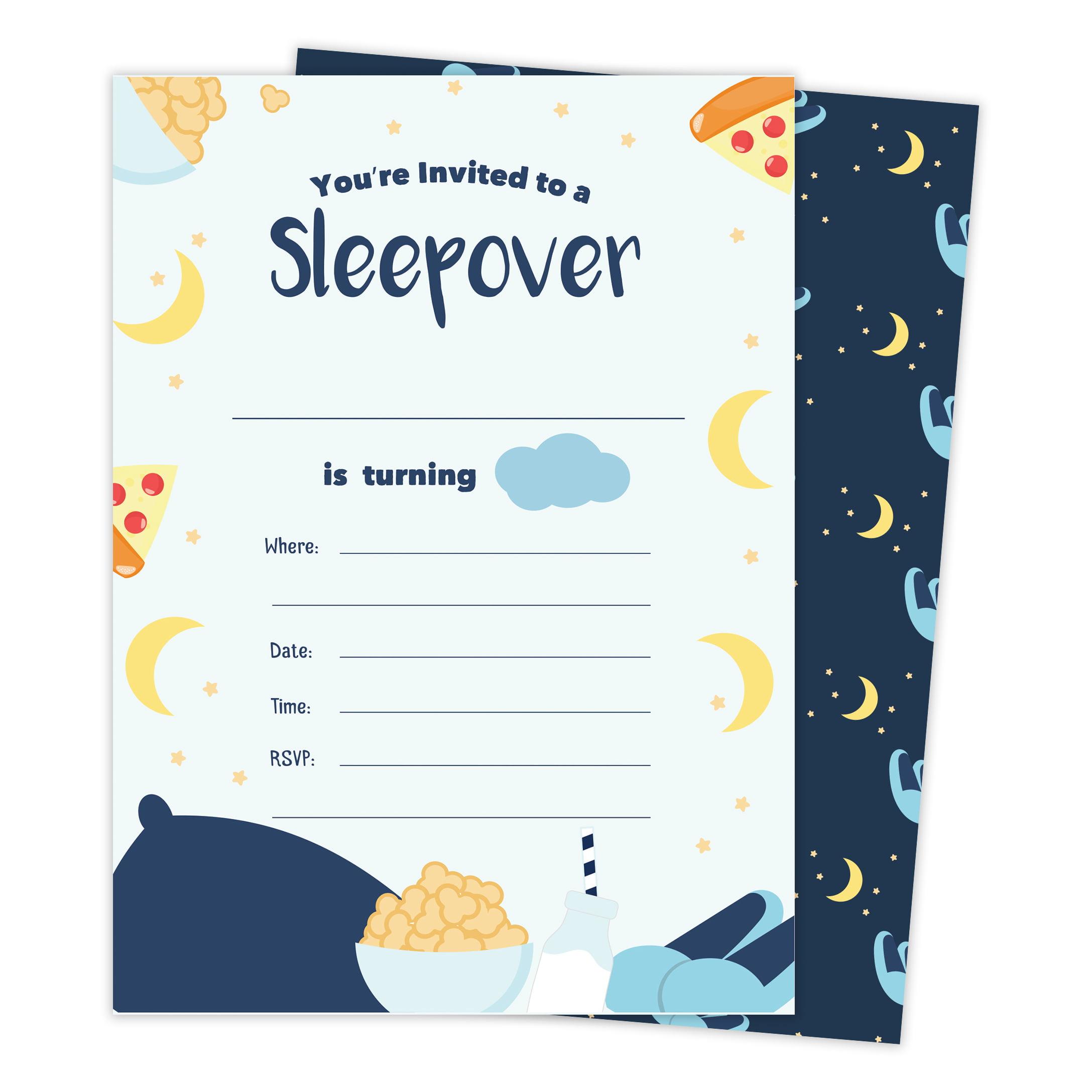 boys sleepover 2 happy birthday invitations invite cards
