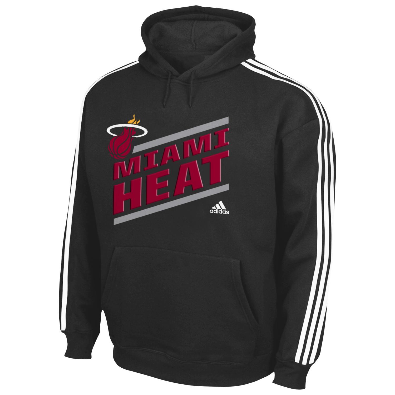 "Miami Heat Youth Adidas NBA ""Playbook Stripe"" Hooded Sweathshirt"