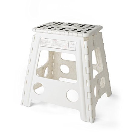 Pleasant Acko 16 Inches Super Strong Folding Step Stool For Adults And Kids White Kitchen Stepping Stools Garden Step Stool Holds Up To 400 Lbs Onthecornerstone Fun Painted Chair Ideas Images Onthecornerstoneorg