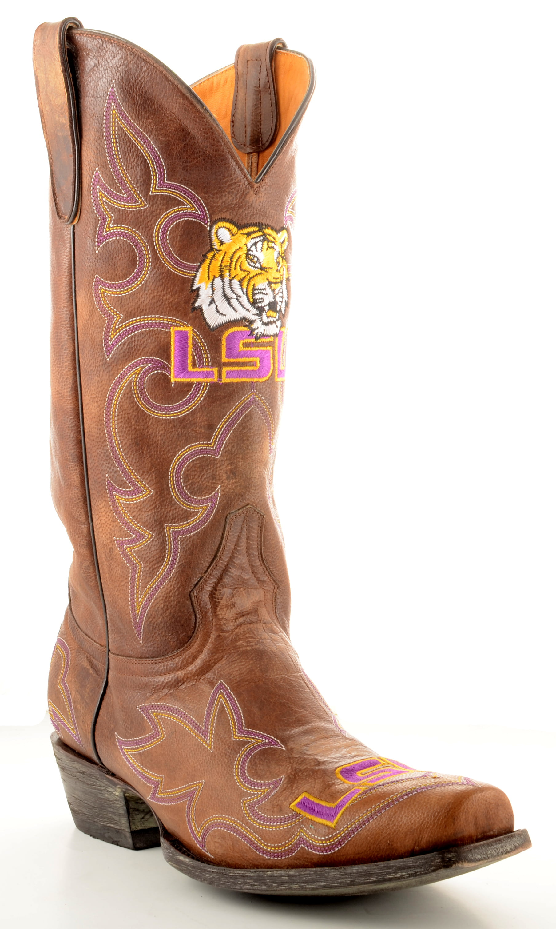 Gameday Boots Mens Leather Louisiana State Cowboy Boots by GameDay Boots