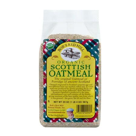 (3 Pack) Bob's Red Mill Organic Scottish Oatmeal, 20 (Organic Scottish Oatmeal)