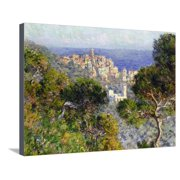 Monet: Bordighera, 1884 Coastal Landscape Cityscape Impressionism Stretched Canvas Print Wall Art By Claude Monet