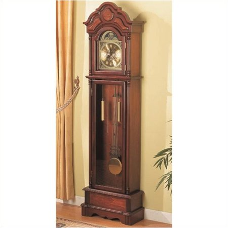 Bowery Hill Grandfather Clock in Brown Red