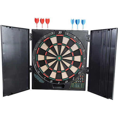 Franklin Electronic DartBoard with Cabinet
