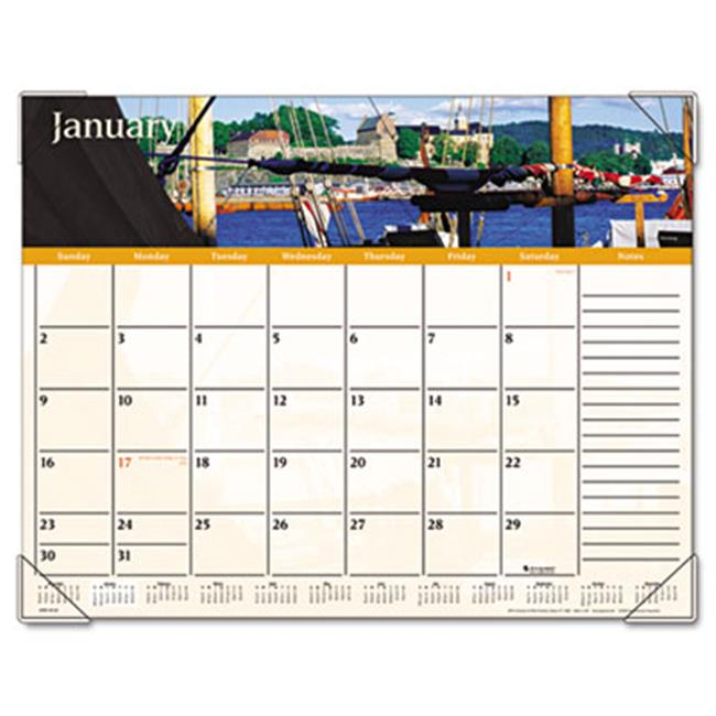 Visual Organizer DMD145-32 Recycled Harbor Views Panoramic Desk Pad  22 in. x 17 in.   2013