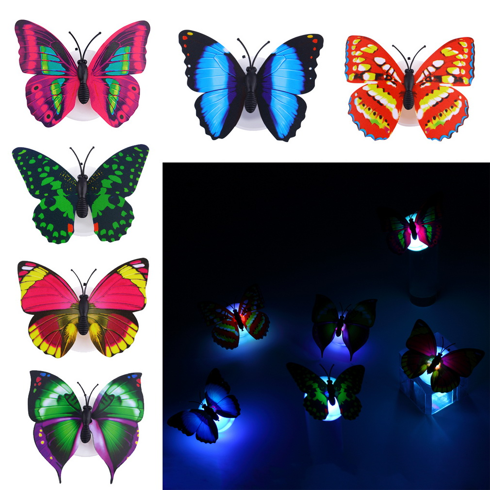 ABS Lovely Multi-Color Changing Beautiful Butterfly LED Night Light Lamp