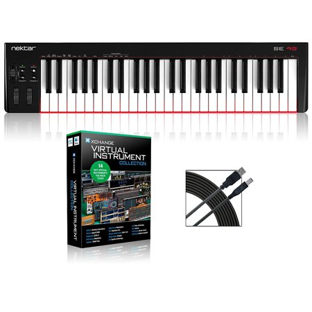 Nektar Se49 49 Key Usb Midi Keyboard Controller Packages  Virtual Instrument Package