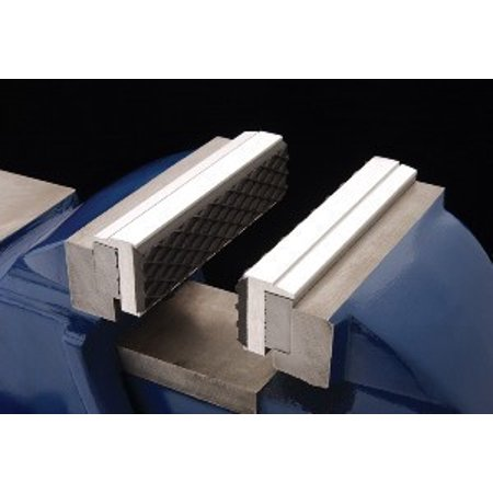 Vise Pads - Pair of Magnetic Aluminium Rubber Soft Jaws for Metal Vise 4 1/2