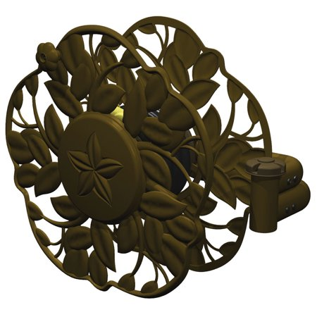 Decorative Hose Reels (Ames 2397200 Antique Bronze Decorative Swivel Wall Mount Hose Reel)