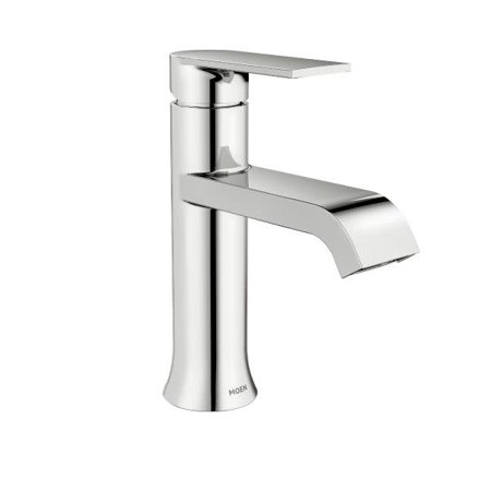 Moen WS84760 Genta 1.2 GPM Single Hole Bathroom Faucet with Pop-Up Drain Assembly ()