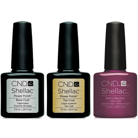 CND - Shellac Combo - Base, Top & Berry Boudier 3ct - image 1 of 1