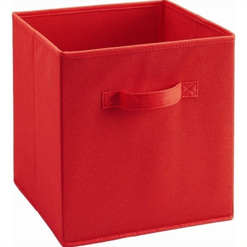 Ameriwood Home Fabric Storage Bin in Red