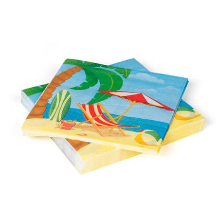 Beach Lunch Napkin 33*33CM 2ply* 24Pcs - image 1 of 1