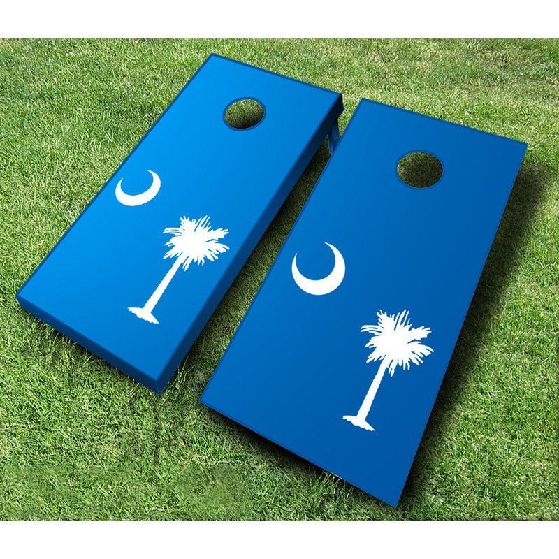 South Carolina Flag Tournament Cornhole Set