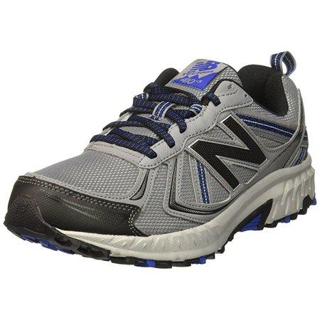 online store 2a2d2 885da new balance men's cushioning 410v5 running shoe trail runner, steel/black,  10.5 d us