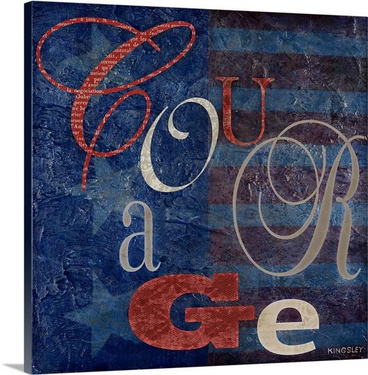 Great BIG Canvas   Premium Thick-Wrap Canvas entitled Courage