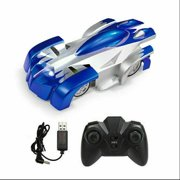 Remote Control Car Stunt Vehicle with Led Lights Kids Toys Gifts for 4 5 6 7 8 9 10 Years Old Boys Blue