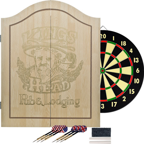 TG King's Head Value Dartboard Set, Light Wood