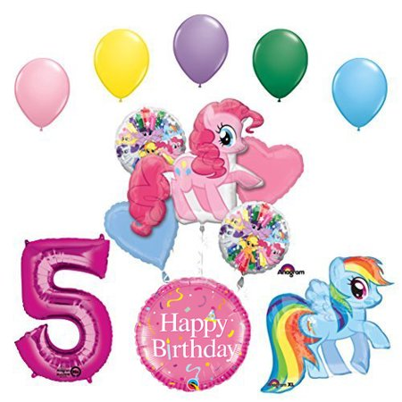My Little Pony Pinkie Pie and Rainbow Dash 5th Birthday Party - My Little Pony Balloons