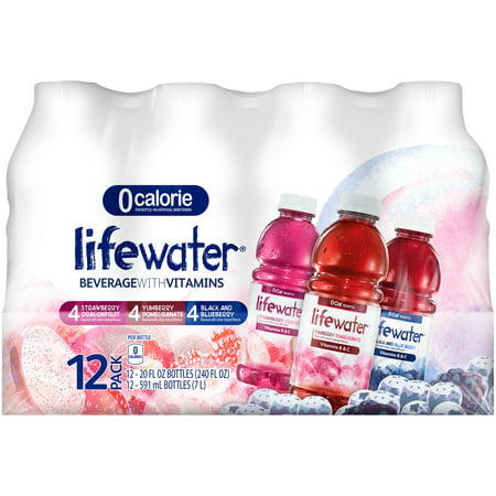 Sobe Lifewater Variety Pack Nutrient Enhanced Hydration Beverage 20 Fluid Ounce, 12 Pack Plastic