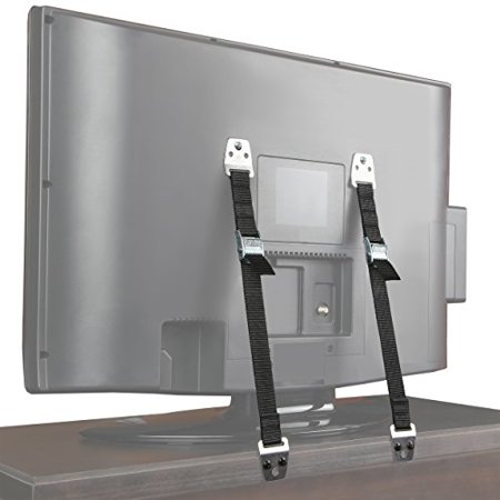 Tv Toddlers (Safety Baby Metal Furniture / TV Straps - Bolts and Hardware Included (2)