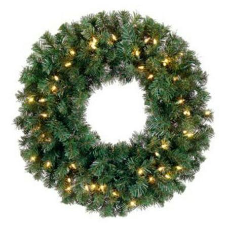 Northlight Deluxe Windsor Pine Pre-lit Wreath