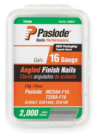 Paslode 650232 16ga Angled Finish Nails, 2-1 2 In Pack of 2000 by Paslode