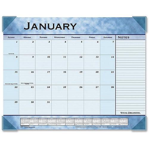 At-A-Glance Slate Blue Monthly Desk Pad Calendar