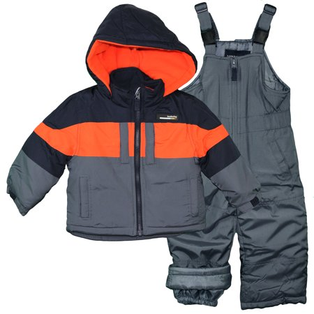 80142c86f7da London Fog Toddler Boys Heavy Winter Jacket and Warm Snow Bib Overall Pants  Navy Blue