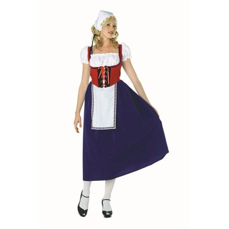 Milk Maiden Adult Costume - Milk Carton Costume