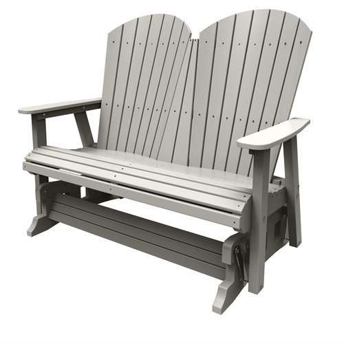 Double Glider by Malibu Outdoor - Hyannis, Light Gray
