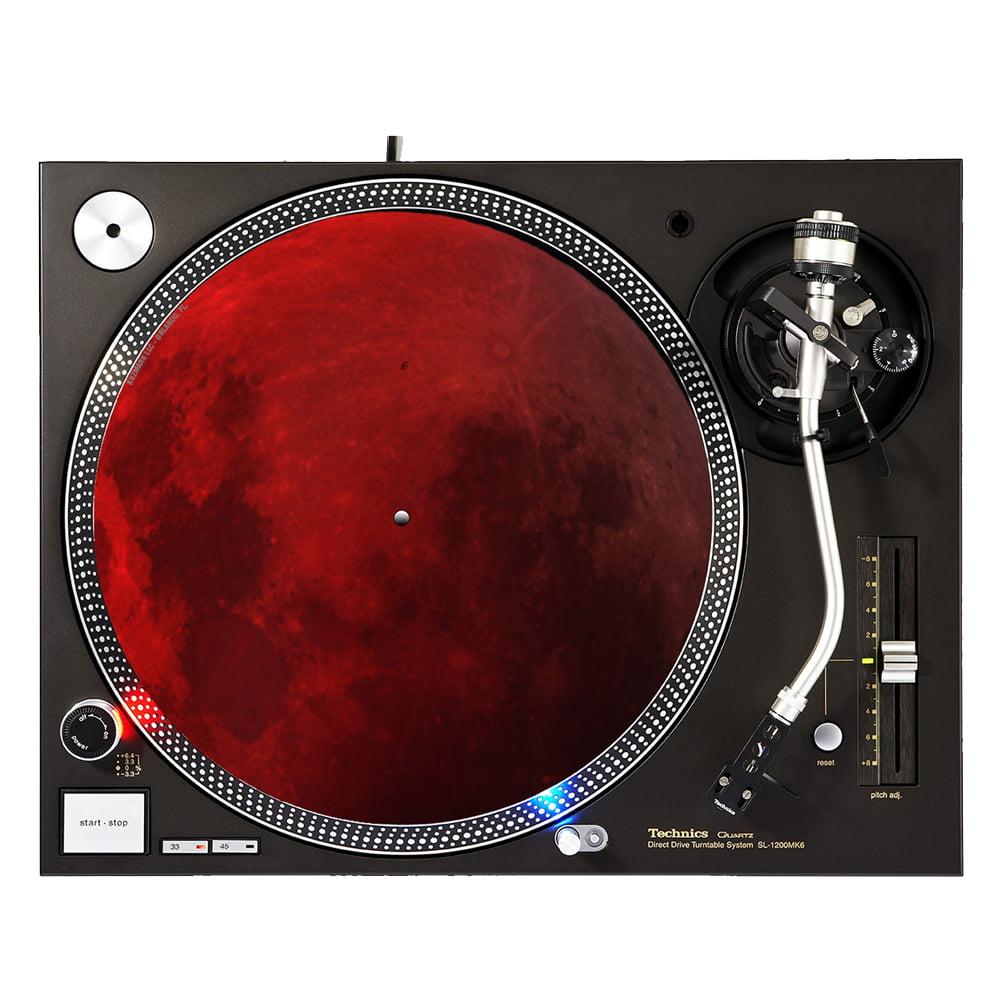 """KuzmarK™ 12"""" DJ Turntable Slipmat - Blood Moon"""