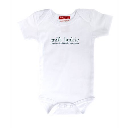 Silly Souls Newborn Baby Boy Milk Junkie Bodysuit