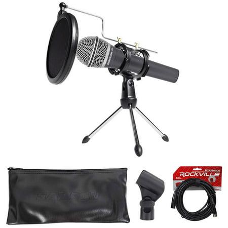 samson dynamic podcasting podcast microphone stand pop filter shock mount cable. Black Bedroom Furniture Sets. Home Design Ideas