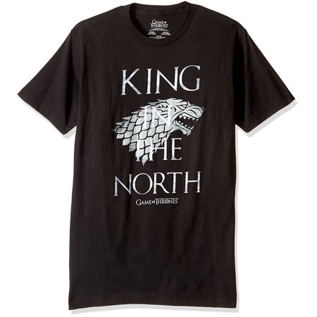 Game Of Thrones Men's The King In The North T-Shirt (The King In The North Game Of Thrones)