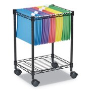 Alera Compact Rolling File Cart, 15 1/4w x 12 3/8d x 21h, Black -ALEFW601416BL
