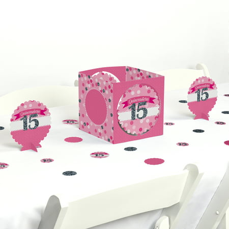quinceanera pink - sweet 15 - birthday party centerpiece & table decoration kit - Quinceanera Centerpiece Ideas