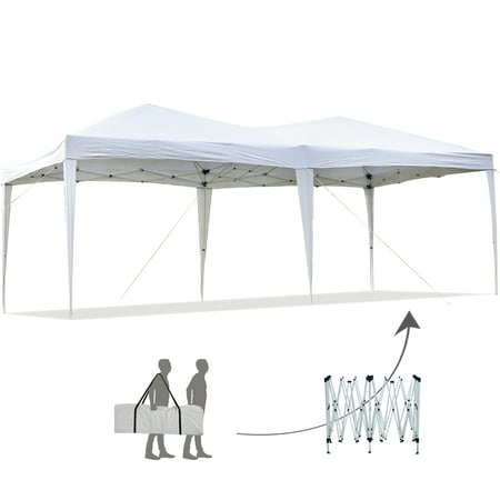 10'x20'EZ Pop Up Canopy Tent Instant Canopy Party Tent W/ Free Carry Bag Waterproof