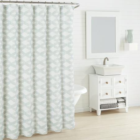 City Scene Addison Blue Shower Curtain