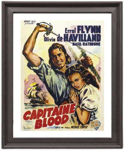 Poster Picture Frame 8x10 inches Captain Blood 2 Poster Print Print