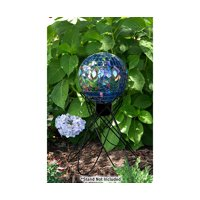 "E-V 10"" Mosaic Transluscent Peacock Gazing Globe"