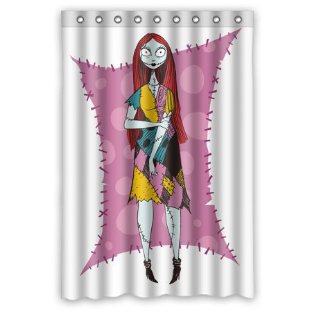 deyou the nightmare before christmas sally shower curtain polyester fabric bathroom shower curtain size 48x72 inches