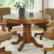 Bowery Hill Round Pedestal Dining Table in Amber