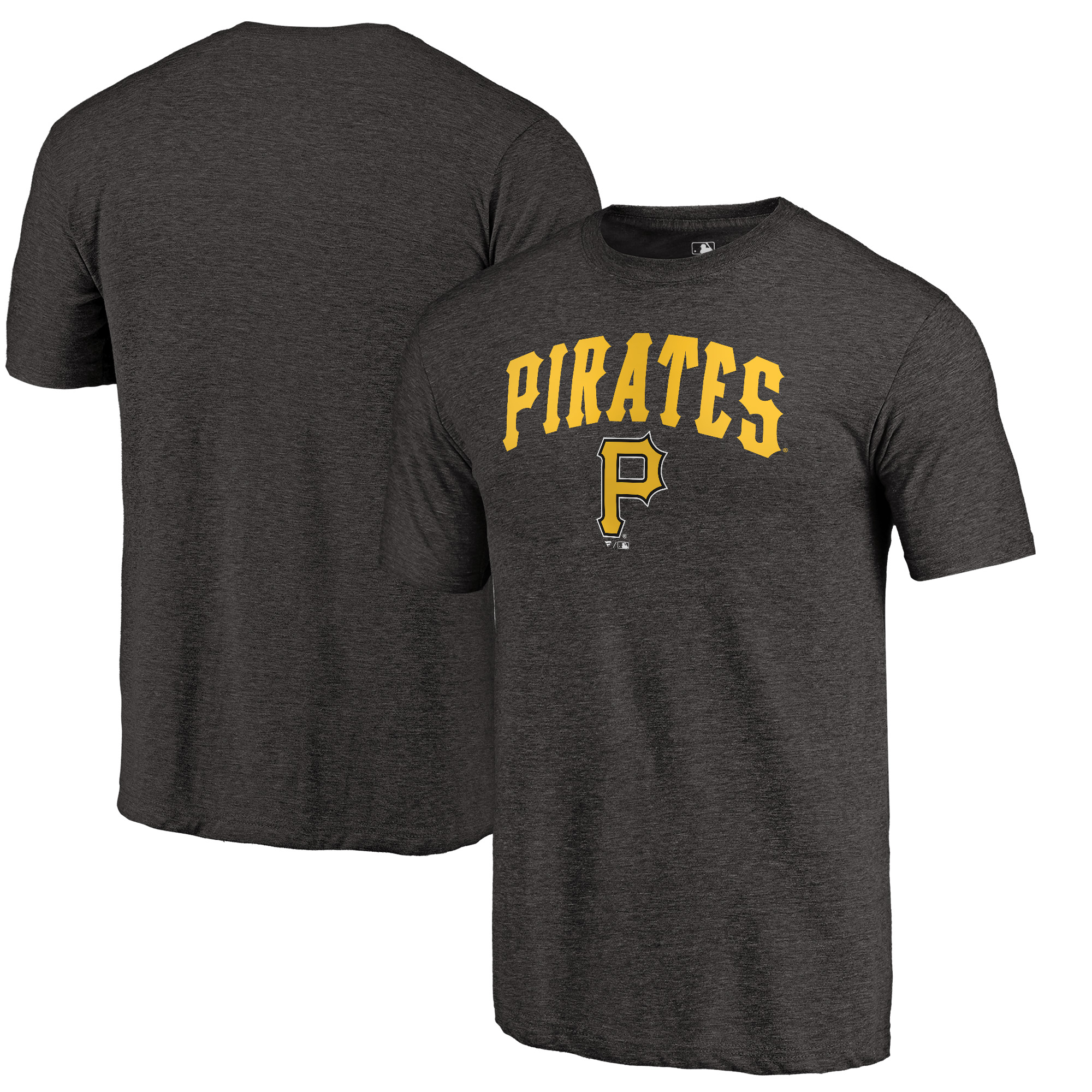 Pittsburgh Pirates Fanatics Branded Vintage Cooperstown Collection Wahconah Tri-Blend T-Shirt - Black
