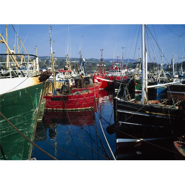 Posterazzi DPI1827027LARGE Greencastle Lough Foyle Co Donegal Ireland - Boats At A Commercial Fishing Port Poster Print by The Irish Image Collection, 34 x 26 - Large - image 1 de 1