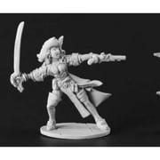 Reaper Miniatures Female Pirate Captain #03666 Dark Heaven Unpainted Metal