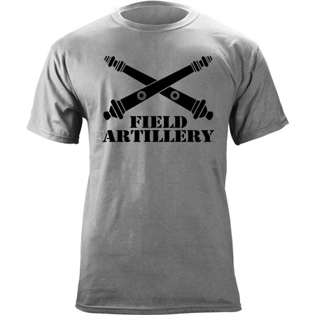 Army Field Artillery Branch Insignia Veteran T-Shirt 01s Male Branch Tee